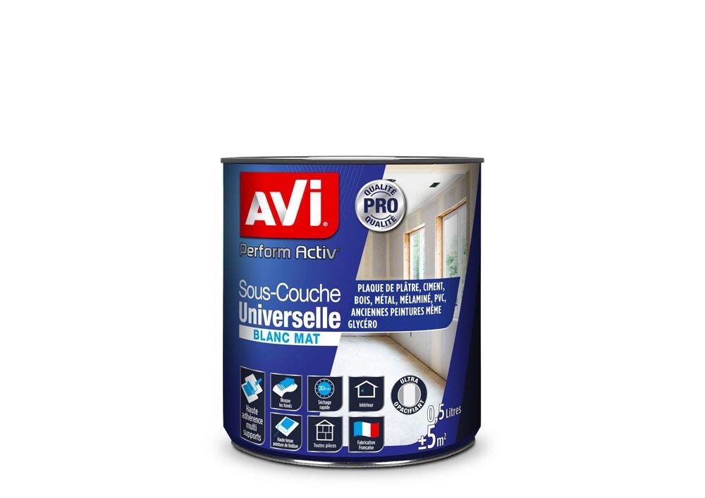 Sous-couche Universelle, Avi Perform Activ - Blanc Mat, 0,5L PPG 387258