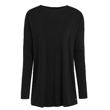 4c243a424bbbb9 tasc Performance Women's Balance Loose Fit Long Sleeve Top Black Slub  X-Small