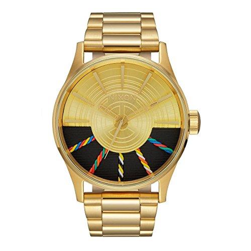 Nixon Men's Sentry SS SW C-3PO Gold A356SW2378 Gold Stainless-Steel Quartz - Watches Gold Mens Nixon