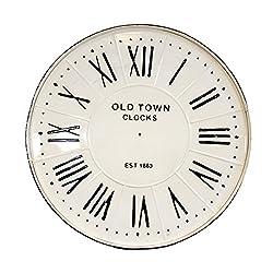 27 Rustic White Metal Clock Face - Farmhouse Decor