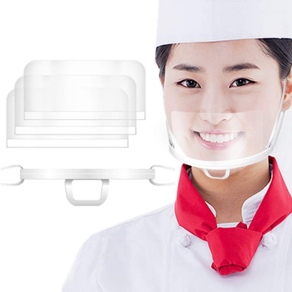 Transparent Plastic Mouth Shield Mask Set(Frame 4+Film 50 Sheet) Made in
