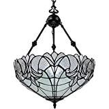 Amora Lighting AM263HL18 Tiffany Style Hanging Pendant Chandelier Lamp 18 inched Wide