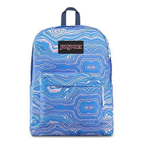 - JanSport Black Label Superbreak Backpack - Lightweight School Bag | Blue Geode Load Print