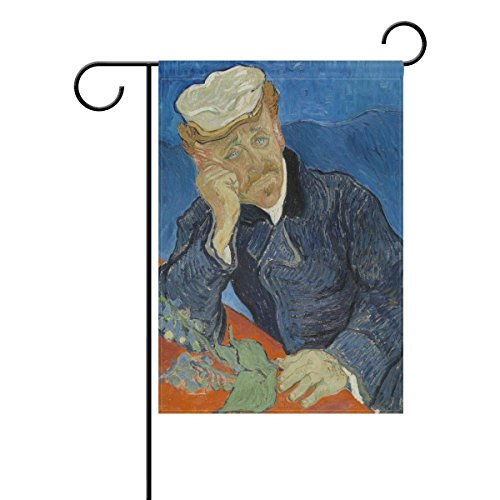 - Yunnstrou Van Gogh Painting Dr Paul Gachet Garden Flag Waterproof Polyester Yard Flag House Flag Decoration Double Sided Flag 12 x 18 Inch