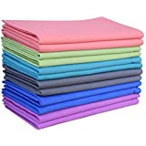 12Pack ,20x20 inch oversized multi color 100% cotton dinner napkins , Each packet containes two pieses of Coral,purple ,lime green,charcoal ,Teal & Sienen Royal Blue by Linen Clubs.