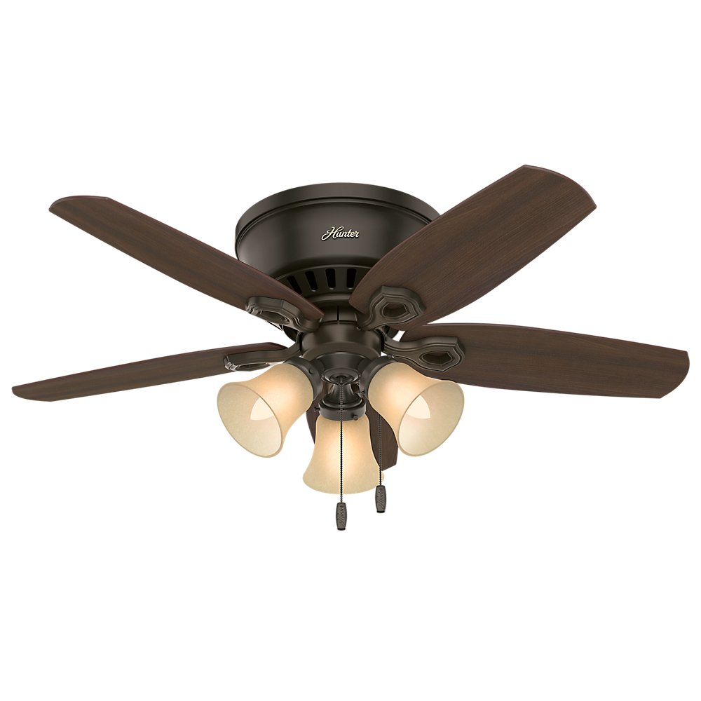 Hunter 51091 42 builder low profile new ceiling fan with light hunter 51091 42 builder low profile new ceiling fan with light bronze amazon aloadofball Choice Image
