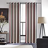 Anady Top Set of 2 Panels/Pair Drapes Once Upon a Time in America,Modern Simple Style Red Blue and White Striped Print Room Darkening Curtains Grommet Top,100W by 100L-Inch Each Panel Extra Wide Long