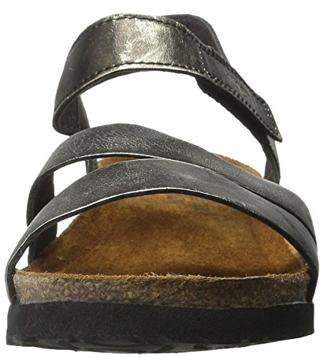 Naot Kayla Leather Sandals Negro - negro/plateado