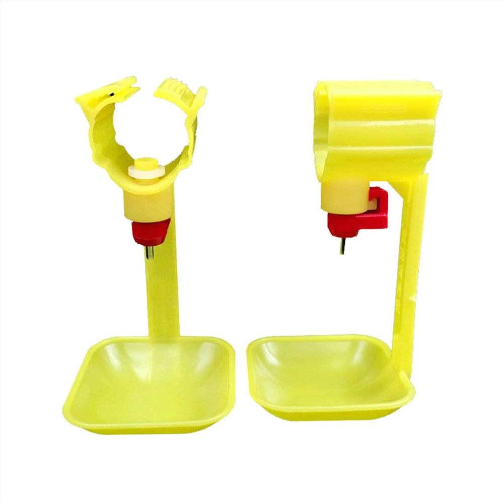 ADHERETOFLY 10 PCs Drinking Cups Chicken Hanging Automatic Water Bowl Nipple Drinkers Chicken Farming Tools