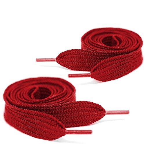 - Mercury + Maia Extra Wide Shoe Laces - Flat Athletic Fat Shoelaces (40, Burnt Orange)