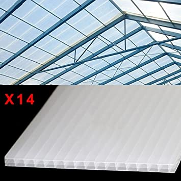 14 x Greenhouse Cold Frame Cloche Polycarbonate Sheet 610 x 1220mm ...