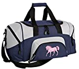 SMALL Horse Gym Bag Deluxe Horse Theme Travel Duffel Bag