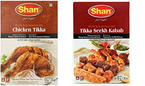 Shan Foods Masala Chicken Value Pack (Tikka BBQ, Tandoori, Masala) Mix Spices- Meat Ingredients – Vegetable Dishes - Indian/Pakistani Bundle Combo Variety – Curry Mix Powder Seasoning – ()
