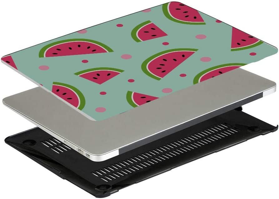 Protective MacBook Pro Case Summer Vintage Cute Fruit Watermelon Plastic Hard Shell Compatible Mac Air 11 Pro 13 15 Laptop Pro Accessories Protection for MacBook 2016-2019 Version