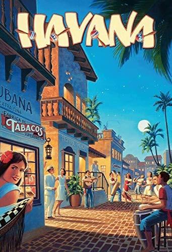 Bidesign Havana la Habana MetalPlaca Signo Tin Custom Metal Sign 16X12in-Bar Cafe Restaurant Home Decor