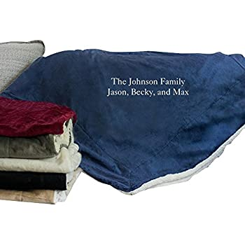 08195e200e GiftsForYouNow Embroidered Any Message Personalized Sherpa Throw Blanket