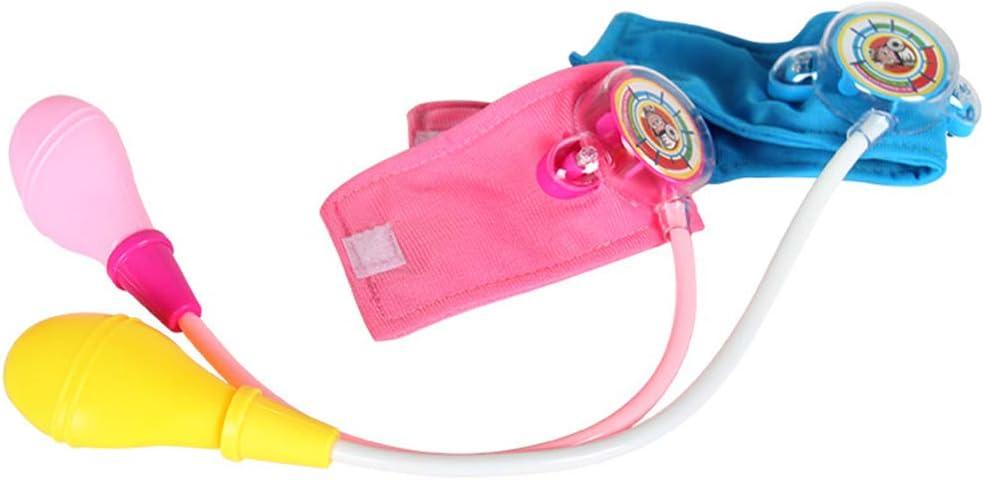 Kerhcusde Niños Simulación Médico de Familia Juguete Pequeña Enfermera Mini Medidor de presión Arterial Médico Bebé Niños Niñas Juego Divertido Cosplay Juegos de simulación Juguetes