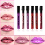Kinghard 6 PCS Matte Velvet Waterproof Super Long Lasting Not Fade Lip Gloss Lipstick