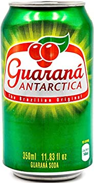 Guaraná Antarctica, Guaraná Flavoured Soft Drink, Made From Amazon Rainforest Fruit, Imported from Brazil, 350