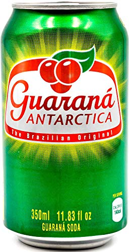Guaraná Antarctica, Guaraná Flavoured Soft Drink, Made From Amazon Rainforest Fruit, Imported from Brazil, 350ml, (Pack Of 12)