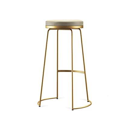 Amazoncom Decorative Stool Iron Art Bar Stools Creative Golden Pu