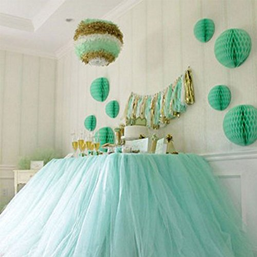 Kicode DIY Tablecloth Yarn Tulle Table Skirt Wedding Birthday Baby Shower Party Desk Decor