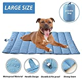 Portable Waterproof Soft Dog Mat for dog bed Couch Cushions Indoor or Outdoor Dog Blanket Blue Large