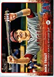 2015 Topps Update #US227 Mike Trout Baseball Card in Protective Display Case