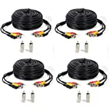 ATC 4 PACK black 100ft Feet AV Video Audio & Power BNC Cable for CCTV Video Security Surveillance Camera with 2 RCA Male to BNC Female Connectors 3JG