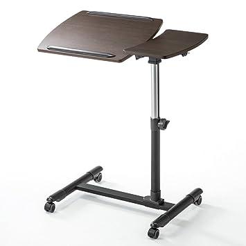 JJJJD Escritorio del Ordenador portátil del Soporte móvil, Mesa de la computadora de Escritorio Ajustable de ...