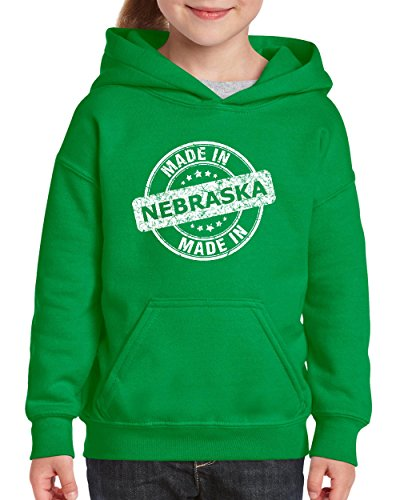 NIB Made In NE Nebraska Flag Omaha Map Cornhuskers Home Of University Of Nebraska Youth Hoodies - Nebraska Shopping In Omaha