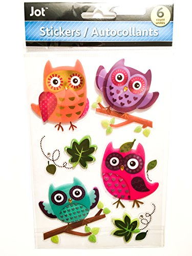 Large Owl Stickers - Owls Scrapbooking Embellishments