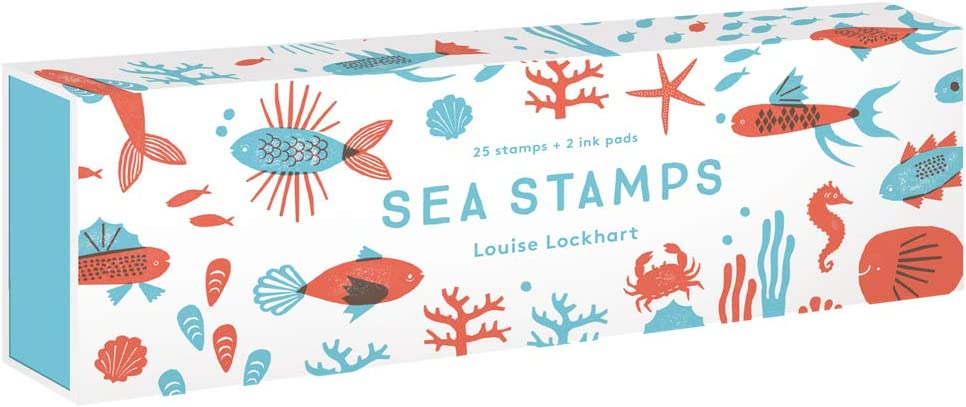 Sea Stamps: 25 stamps + 2 ink pads