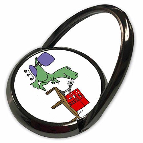 3dRose All Smiles Art Sports and Hobbies - Funny Trex Dinosaur using Ham Radio - Phone Ring (phr_254019_1)