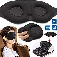 CXZX 3D Máscara para los ojos del sueño, bloques ligeros Memoria Esponja Viajes Máscara del ojo del sueño Cubierta acolchada de la sombra Dormir Con los ojos vendados Ayuda para viajar, dormir, el hotel