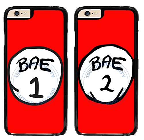 BleuReign(TM) Set Of 2 BFF Bae 1 Bae 2 Plastic Phone Case Back Cover For Apple iPhone 6 6s (4.7 Inches Screen)