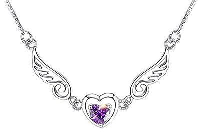 Lovelegis Collar de la Mujer de corazón - alas - alas del ...