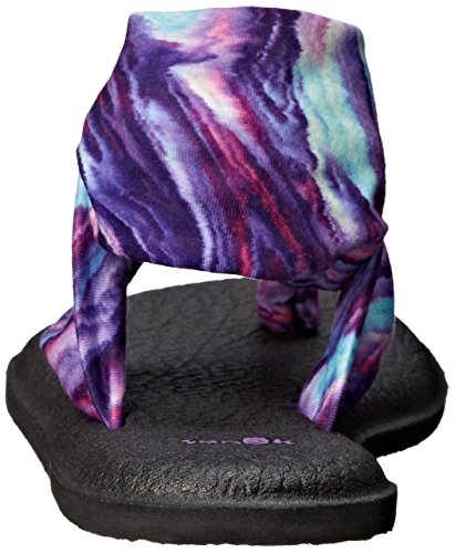 Sanuk Frauen Yoga Sling 2 Flip Flop Lila / Blauer Marmor