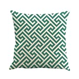 "Sinzelimin Elegant Throw Pillow Case Linen Waist Cushion Cover Sofa Home Decor 45cm45cm/18 18"" (A)"