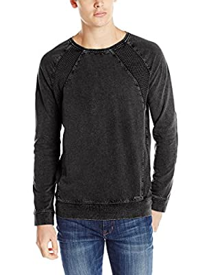 Calvin Klein Jeans Men's Long Sleeve Acid Wash Crew Neck