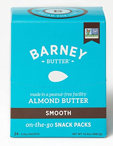 Barney Butter Smooth Almond Butter, 0.6 oz 24 Count (Pack of 4) by Barney Butter