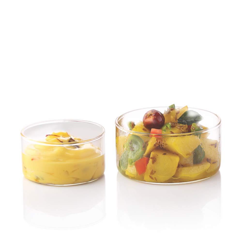 Borosil VCSK105 Vision Classic Small Katori Bowl [Set of 6] Lightweight Durable Glass, Odorless, Dishwasher Safe | 3.5 Ounce Glass Bowls