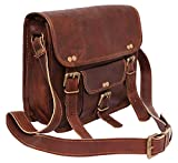 pranjals house Leather Brown Laptop Briefcase