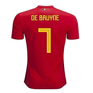 cheap for discount 281cc 07f14 Amazon.com: #7 De Bruyne Soccer Jersey Belgium National Team ...