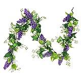 ES ESSENTIALS Lavender Shell Garland swags, Purple 67 inch