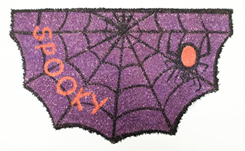 Natural Coir Coco Fiber Non-Slip Outdoor/Indoor Halloween Doormat, 18x30