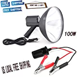 HID Xenon Handheld Camping Offroad Hunting Boating Fishing Spotlight Flashlight 100W 12V 9''