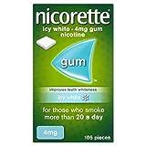 Nicorette Icy White 4mg Gum Nicotine 105 Pieces