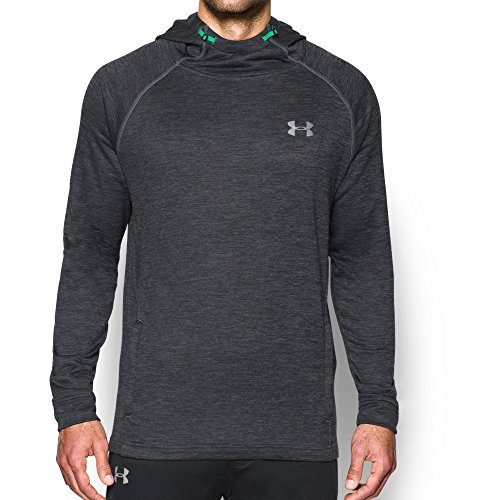 Under Armour Men's Tech Terry Hoodie, True Gray Heather/Silver, Medium by Under Armour