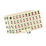MagiDeal Chinese Mahjong Mahjongg Mah Jongg Mah-Jongg Majiang Travel Board Tile Game Set